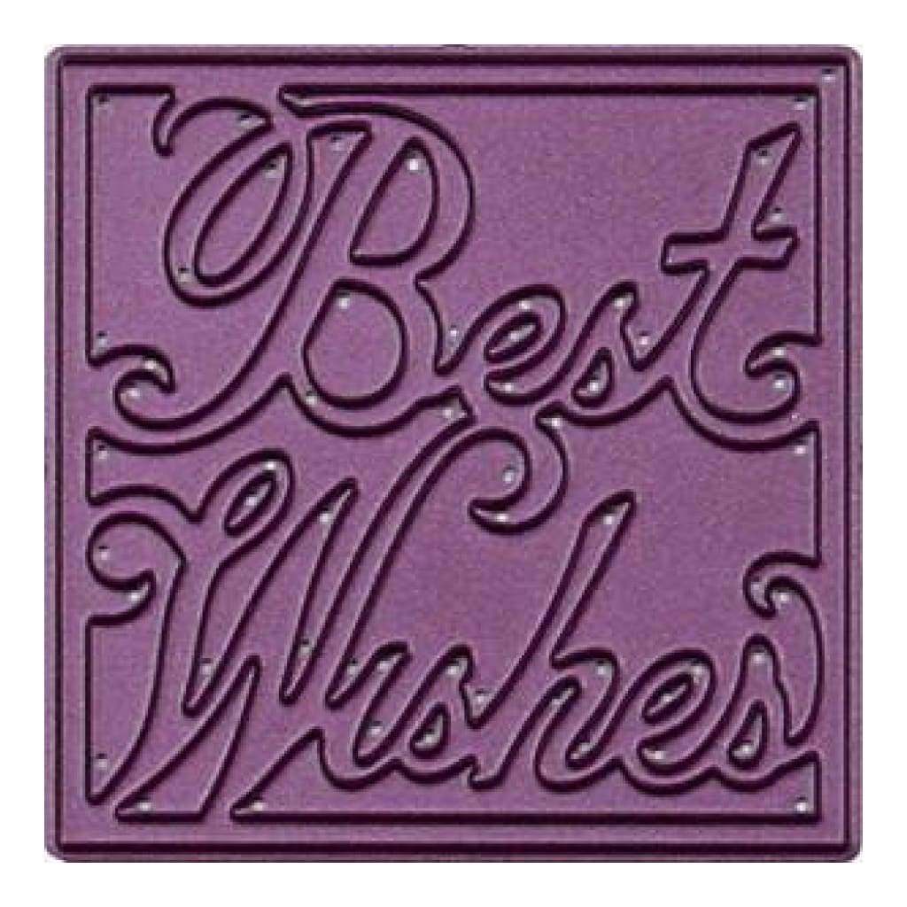 Cheery Lynn Designs Die - Best Wishes Square 2.125 Inch X2.125 Inch