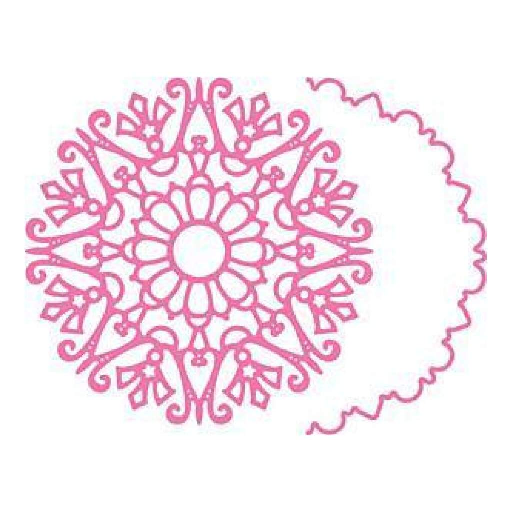 Cheery Lynn Die - Snowflake Doily W/Angel Wing - Dl279