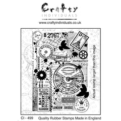 Crafty Individuals Unmounted Rubber Stamp 3.77inch X5.39inch - Full Steam Ahead
