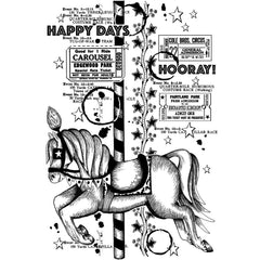 Crafty Individuals - Unmounted Rubber Stamp 3.75x5.25 inch - Happy Days Hooray