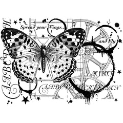 Crafty Individuals - Unmounted Rubber Stamp 3.75x5.25 inch - Fly And Be Free