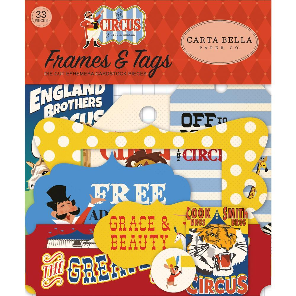 Carta Bella Circus Ephemera Cardstock Die-Cuts 33 pack Frames & Tags