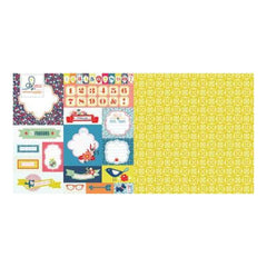 Citrus Squeeze - Countdown To Summer 12X12 D/Sided Paper (Pack Of 10) (Pack Of 10)