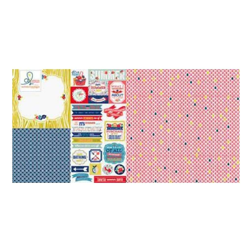Citrus Squeeze - Hazy- Hot & Humid 12X12 D/Sided Paper (Pack Of 10) (Pack Of 10)