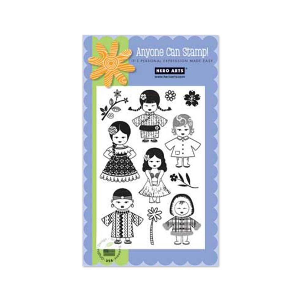 Hero Arts - Clear Stamps - World Dolls