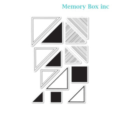 Memory Box - Looking For Mr. Right Triangle clear stamp set