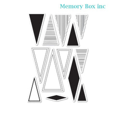 Memory Box - Thats Acute Triangle clear stamp set