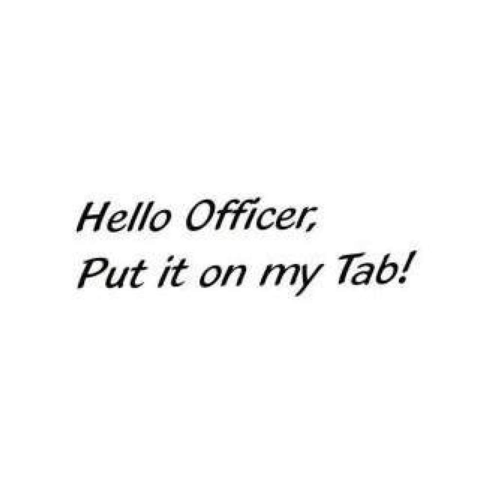 Class Act Cling Mounted Rubber Stamp 2.5 Inch X3.75 Inch  Hello Officer