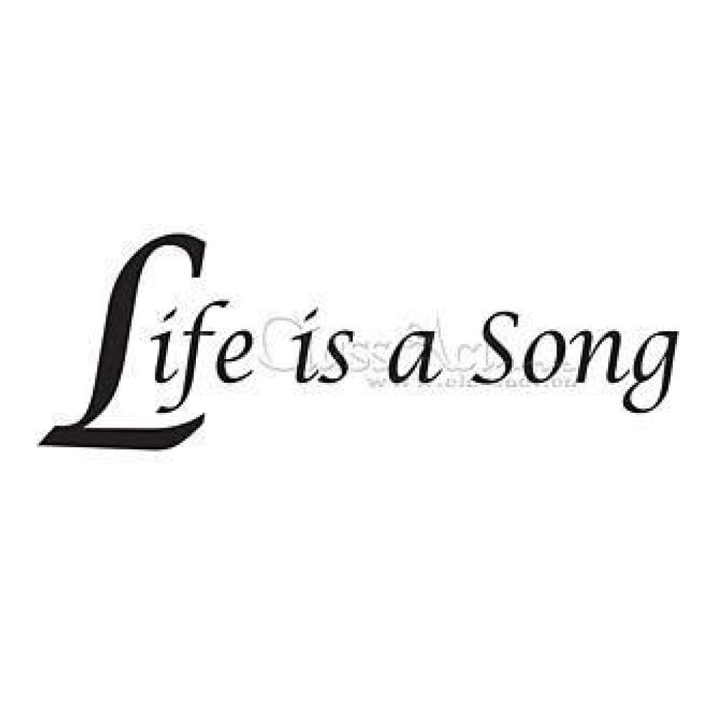 Class Act Cling Mounted Rubber Stamp 2.75In.X3.75In. Life Is A Song