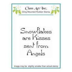 Class Act Cling Mounted Rubber Stamp 2.75In.X3.75In. Snowflake Kisses
