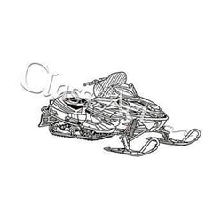 Class Act Cling Mounted Rubber Stamp 4.25 Inch X5.75 Inch  Snowmobile