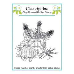 Class Act Cling Mounted Rubber Stamp Small - Harvest Time
