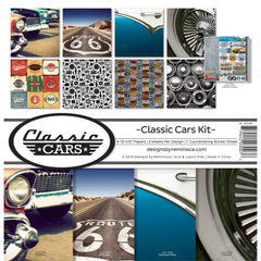 Reminisce Collection Kit 12in X 12in - Classic Cars