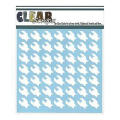 Clear Scraps 6Inx6in Stencils- Houndstooth