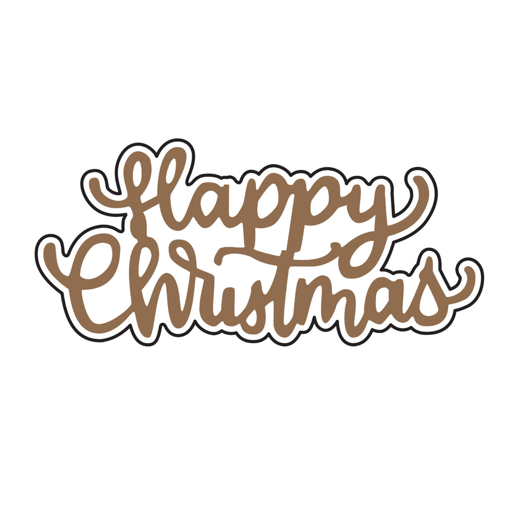 Universal Crafts Hot Foil Stamp 50mm x 23mm - Happy Christmas