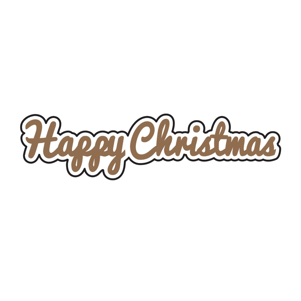 Universal Crafts Hot Foil Stamp 48mm x 12mm - Happy Christmas