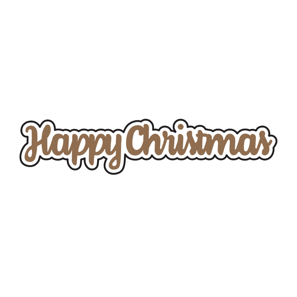 Universal Crafts Hot Foil Stamp 49mm x 10mm - Happy Christmas