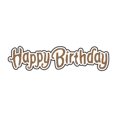 Universal Crafts Hot Foil Stamp 52mm x 12mm - Happy Birthday