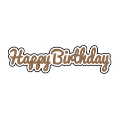 Universal Crafts Hot Foil Stamp 47mm x 13mm - Happy Birthday