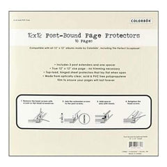 Colorbok  Top-Loading 3-Hole Page Protectors 12In. X12i