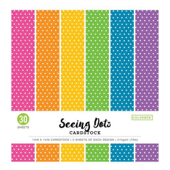 Colorbok 78lb Single-Sided Printed Cardstock 12 inch X12 inch 30 pack Bright Spots