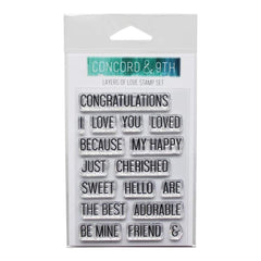 Concord & 9th Clear Stamps 4 inch X6 inch Layers Of Love