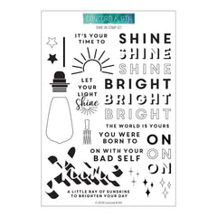 Concord & 9th Clear Stamps 6inch X8inch Shine On