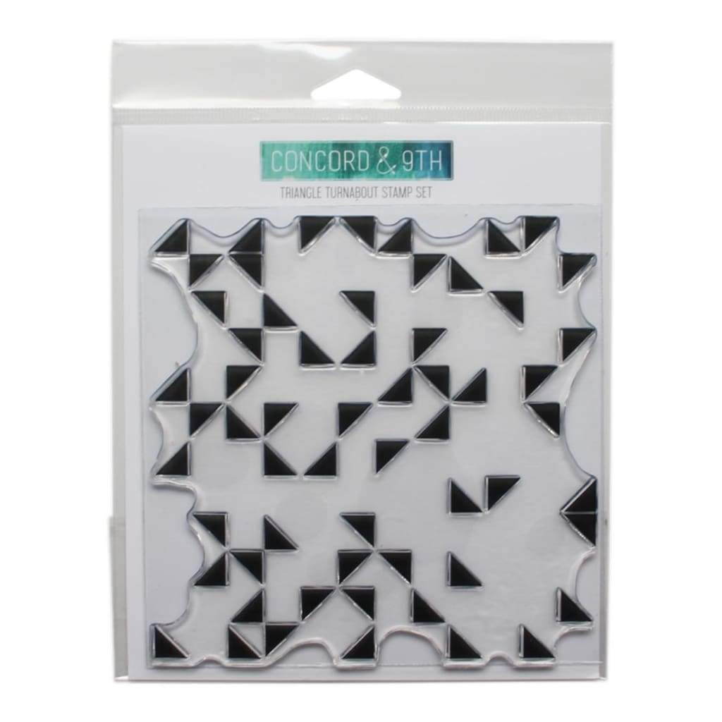 Concord & 9th Clear Stamps 6x6 inch - Triangle Turnabout