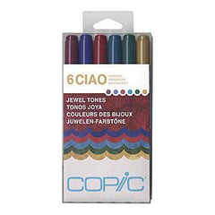 Copic Ciao Markers 6 Pack - Jewel Tones