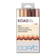 Copic Ciao Markers 6 Pack - Skin