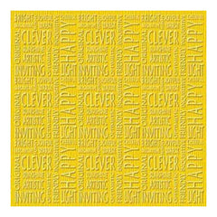 Core'dinations Happy Colours Sunshine - 12 X 12 Cardstock With Embossed Texture