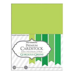 Core'dinations Value Pack Cardstock 8.5 Inch X11 Inch  50 Pack Gorgeous Green