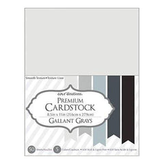 Core'dinations Value Pack Cardstock 8.5Inch X11inch  50 Pack Gallant Grays