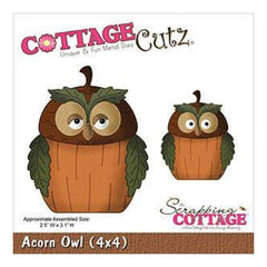 Cottage cutz Die 4X4 Inches - Acorn Owl