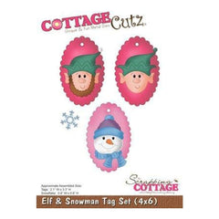 Cottage Cutz - Elf & Snowman Tag Set
