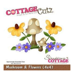 Cottage Cutz - Mushroom And Flowers
