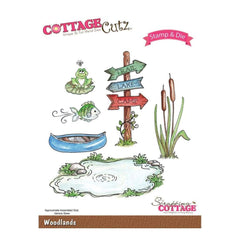 Cottage Cutz Stamp & Die Set Woodlands