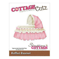 Cottagecutz Die 2.5X2.1 - Ruffled Bassinet