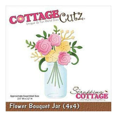 Cottagecutz Die 4X4 Flower Bouquet Jar