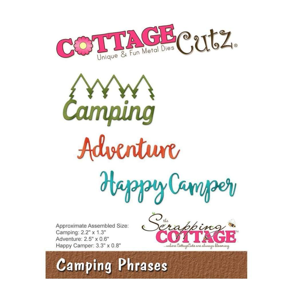 CottageCutz Die Camping Phrases .6inch To 3.3inch
