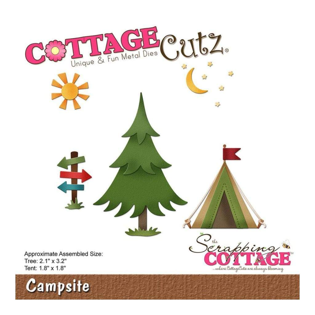 CottageCutz Die Campsite 1.8inch To 3.2inch