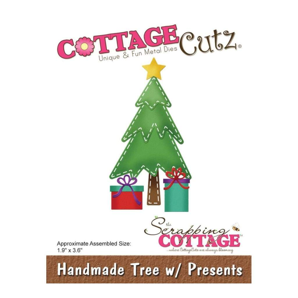 CottageCutz Die Handmade Tree with Presents 1.9inch X3.6inch