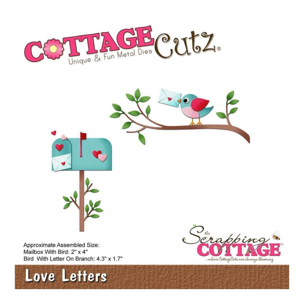 CottageCutz Die Love Letters, 1.7inch To 4.3inch