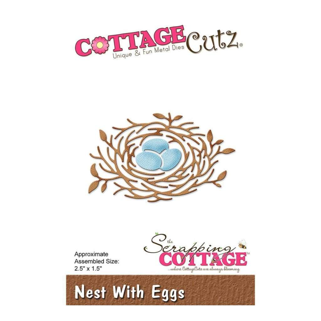CottageCutz Die Nest With Eggs, 2.5 inch X1.5 inch