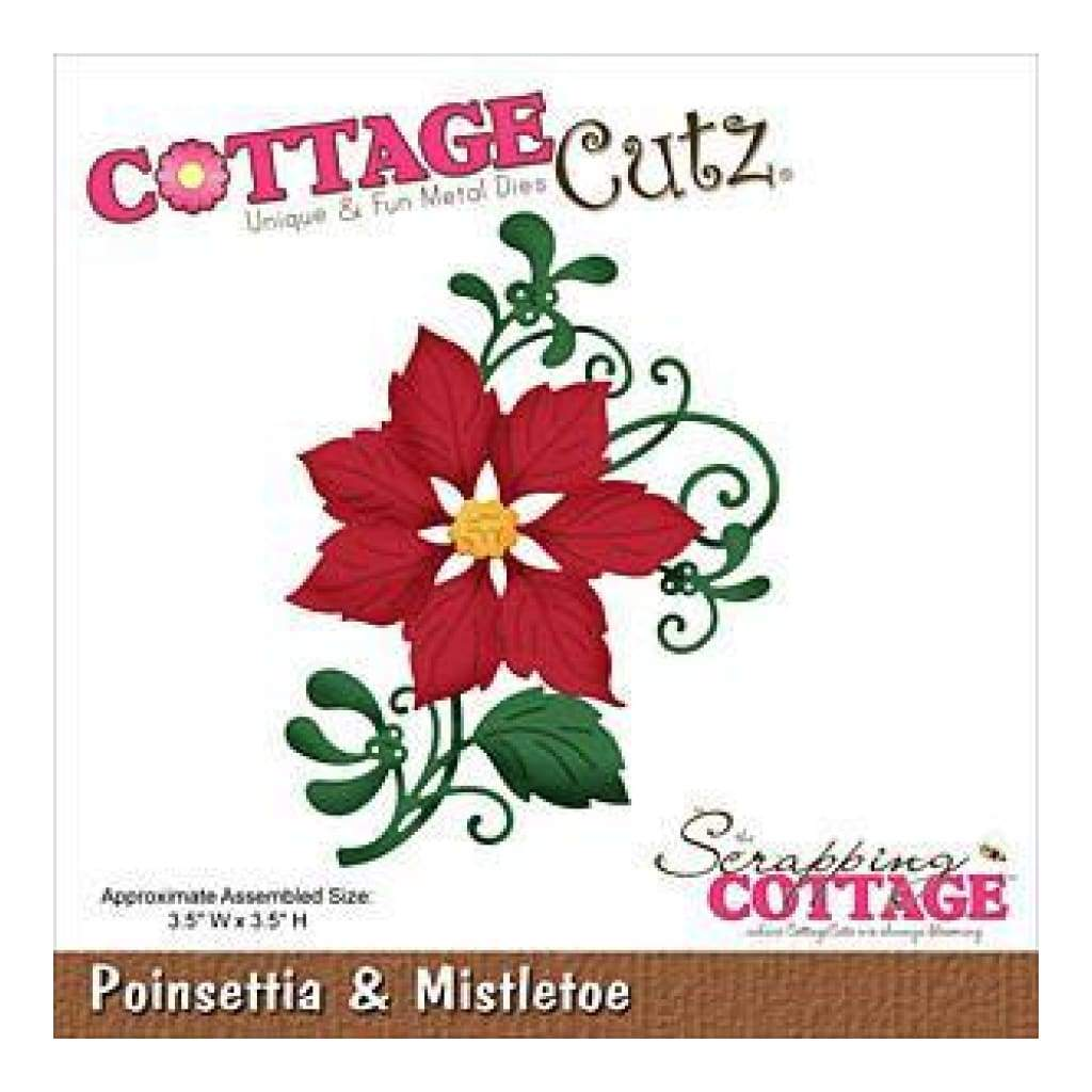 Cottagecutz Die Poinsettia & Mistletoe 3.5X3.5