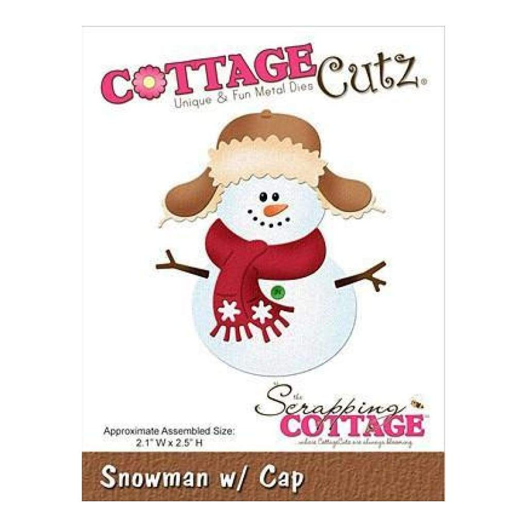 Cottagecutz Die - Snowman With Cap 2.1Inch X2.5Inch