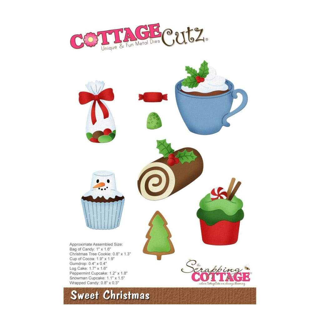 CottageCutz Die - Sweet Christmas .3inch To 1.9inch