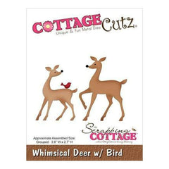 Cottagecutz Die Whimsical Deer With Bird 3.9Inch X2.7Inch