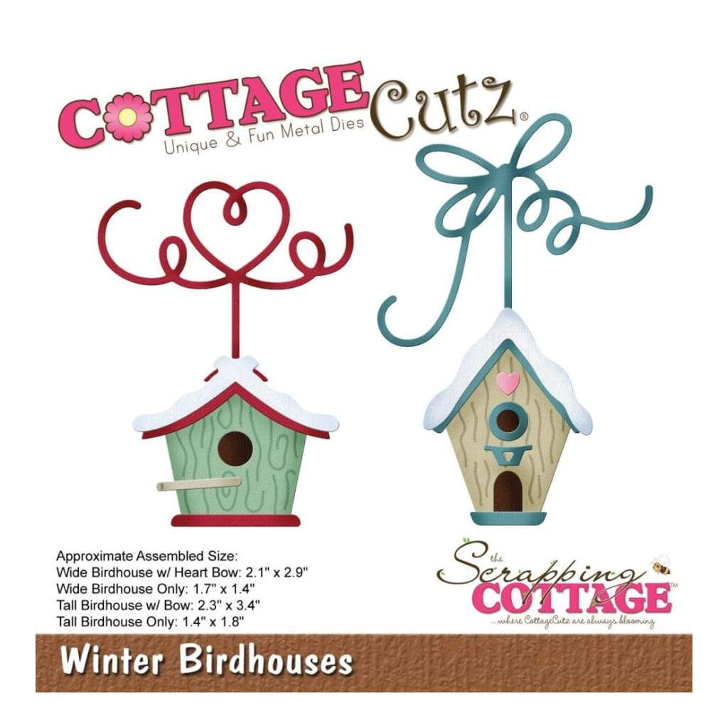 CottageCutz Die - Winter Birdhouses 1.4inch To 3.4inch
