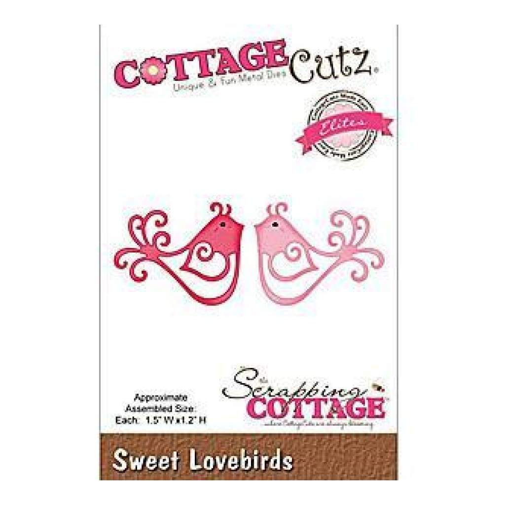 Cottagecutz Elites Die 1.5X1.2 Sweet Lovebirds